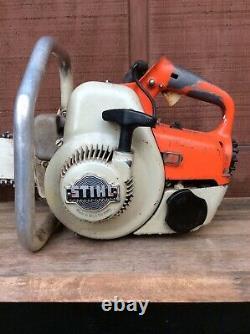 Vintage Stihl S10 Chainsaw 1968-1973 West Germany Chain Saw 21 Bar Works